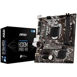 MSI Main Board Desktop H310 (S1151, DDR4, USB3.1, USB2.0, SATA III, DVI-D, VGA - Requires Processor Graphics, 8-Channel(7.1) HD Audio with Audio Boost, Realtek 8111H Gigabit LAN) mATX Retail