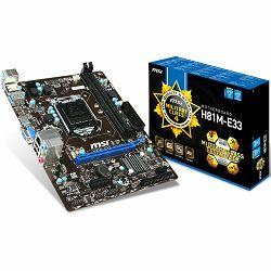 MSI Main Board Desktop iH81 (S1150, DDR3, SATA II,SATA III,PS/2,USB2.0,USB3.0,LAN,Audio Line-In,Audio Line-Out,Microphone-In,HDMI,VGA) mATX Retail