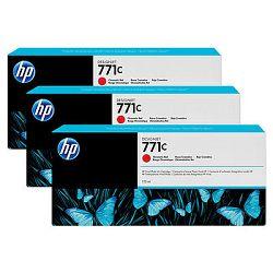 HP 771C 3-pack 775-ml Chromatic Red Designjet Ink