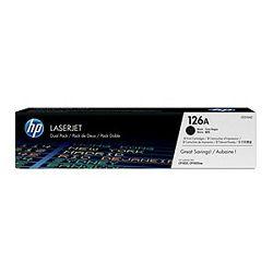 HP 126A 2-pack Black Original LaserJet Toner