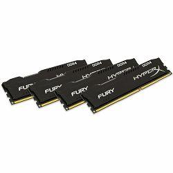 Kingston  32GB 2400MHz DDR4 CL15 DIMM (Kit of 4) HyperX FURY Black, EAN: 740617240672