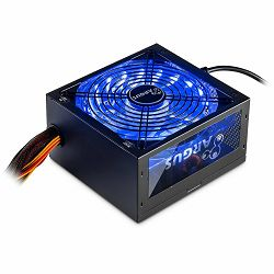 Power Supply INTER-TECH Argus RGB 600W, 80PLUS Bronze, 140mm fan with 21 ultra bright LEDs,Switchable illumination, Acrylic glass side panel, active PFC, 2xPCI-e, OPP/OVP/SCP protection