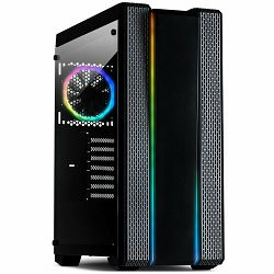 Chassis INTER-TECH S-3901 IMPLUSE Gaming Midi Tower, ATX, 2xUSB3.0, 2xUSB2.0, audio, PSU optional, Tempered glass side panel, 2xRGB LED strips in the front, RGB control board, 120mm RGB fan, Dust filt