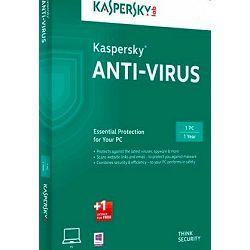 Kaspersky Anti-Virus 2016 1D+1 gratis retail renewal 1Y