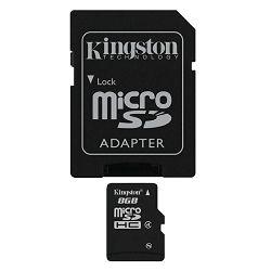 Kingston microSDHC, Class4, 8GB