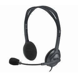 Logitech H111 slušalice s mikrofonom, stereo, siva