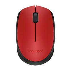 Logitech M171, bežični miš, crveni