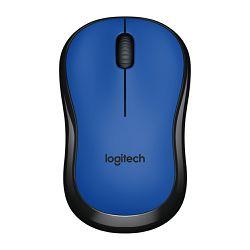 Logitech M220 Silent, optički miš, plavi