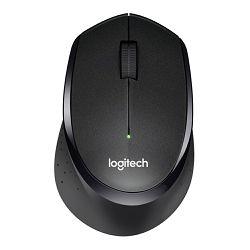 Logitech M330 Silent Plus, optički miš, crni