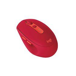 Logitech M590 Silent, bežični miš, crveni