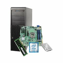 Server Intel, Midi Tower, 1xXeon E3-1230V5, 1x 16GB RAM, 1x S3510 120Gb SSD, 1xAXXRMM4LITE2, based on P4304XXSFCN + DBS1200SPL, PSU 365W, Black