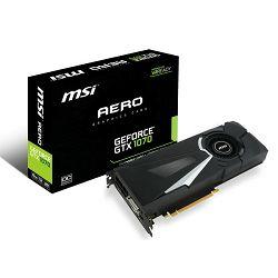 MSI GF GTX 1070 Aero OC, 8GB GDDR5, DX12