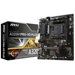 MSI A320M Pro-VD Plus, AM4, DDR4, U3,mATX