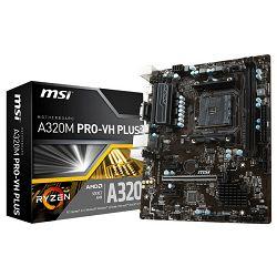 MSI A320M PRO-VH PLUS, AM4, DDR4, U3,mATX