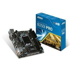 MSI B250i PRO, LGA1151,m.2, d4, s3,  mITX