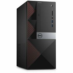 DELL Vostro 3668, Intel Pentium G4560(3MB Cache, up to 3.50 GHz), 4GB DDR4 2400MHz, 500GB (7200RPM) 3.5in SATA HDD, Intel HD 610, DVDRW, WiFi, BT, HDMI, VGA, USB 3.0 x2, USB 2.0 x4, RJ-45, K+M, Linux,