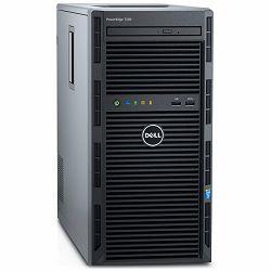 DELL EMC PowerEdge T130 w/up to 4x3.5in, Intel Xeon E3-1240 v6 3.7GHz, 8M cache, 4C/8T, turbo (72W), 8GB UDIMM 2400MT/s, no HDD, PERC H330 Integrated RAID, iDRAC 8 Basic, DVDRW, FIPS TPM 2.0, LOM 1GBE
