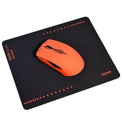 Port miš NEON bežični + podloška, crveni