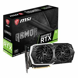 MSI Video Card NVidia GeForce RTX 2070 GDDR6 8GB/256bit, 1420MHz/14000MHz, PCI-E 3.0 x16, 3xDP, HDMI, USB Type-C, ARMOR 2X Cooler(Double Slot) RGB Mystic Light, Backplate, Retail
