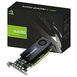 PNY Video Card Quadro K1200 4 GB GDDR5 128-bit 80GB/s 512 PCI Express 2.0 x16 45W Mosaic Mode HDCP Support 3D Stereo Support