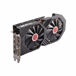 XFX Video Card AMD RADEON RX 580 GTS 8GB Black Ed. OC 1405 Mhz GDDR5 8GB/256bit Dynamic 22 Blade fan  3X DP HDMI DVI