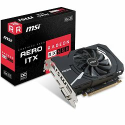 MSI Video Card AMD Radeon RX 550 GDDR5 2GB/128bit, 1082MHz/7000MHz, PCI-E 3.0 x16, DP, HDMI, DVI-D, Sleeve Fan Cooler(Double Slot) Retail