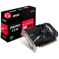 MSI Video Card AMD Radeon RX 550 OC GDDR5 4GB/128bit, PCI-E 3.0 x16, DP, HDMI, DVI-D,(Double Slot) Retail