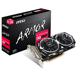 MSI Video Card AMD Radeon RX 570 ARMOR 8G OC, GDDR5 256 bit, PCI-E 3.0, HDMI, DL-DVI-D, DX 12