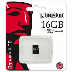 Kingston  16GB microSDHC Class 10 UHS-I 45R Flash Card Single Pack w/o Adapter, EAN: 740617246032