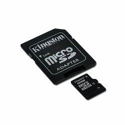Kingston  16GB microSDHC Class 4 Flash Card + SD Adapter, EAN: 740617173741