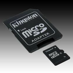 Kingston  32GB microSDHC Class 4 Flash Card + SD Adapter, EAN: 740617175011