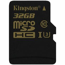 KINGSTON 32GB microSDXC Canvas Select 80R CL10 UHS-I Single Pack w/o Adapter