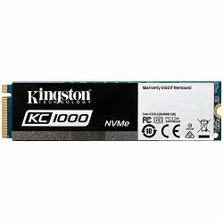 Kingston SSD 480GB KC1000 PCIe Gen3 x 4, NVMe (M.2 2280), EAN: 740617264975