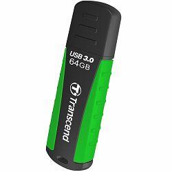 TRANSCEND USB Flash, JetFlash 810, 64GB, USB 3.0, Rugged, Black/Green