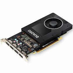 PNY NVIDIA Video Card Quadro P2000 GDDR5 5GB/160bit, 1024 CUDA® Cores, PCI-E 3.0 x16, 4xDP, Cooler, Single Slot (DP-DVI-D Cable incuded)