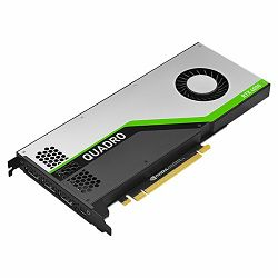 PNY NVIDIA Video Card Quadro RTX4000 GDDR6 8GB, 2304 CUDA Cores, PCI-E 3.0 x16, 3xDP, Cooler, Dual Slot (USB-C to DP adapter, DisplayPort to DVI-D SL adapter, DisplayPort to HDMI adapter, Auxiliary po