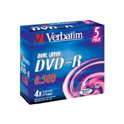 DVD-R DL 5kom JC/4x/8.5GB