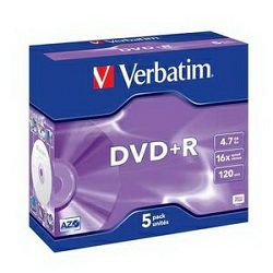 DVD+R 5JC/4.7GB/16×/MattSilver