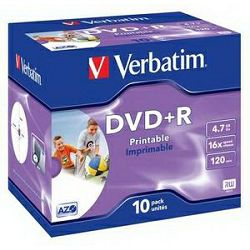 DVD+R 10JC/4.7GB/16×/Wpp