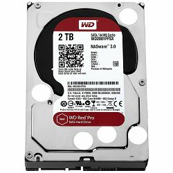 HDD Desktop WD Red Pro (3.5, 2TB, 64MB, 7200 RPM, SATA 6 Gb/s)