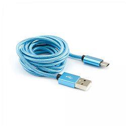 SBOX kabel USB 2.0 - USB tip C, plavi, 3 kom