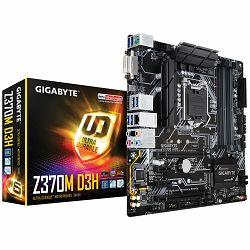 GIGABYTE Main Board Desktop INTEL Z370 (Socket LGA1151, 4xDDR4, HDMI,DVI-D, 1xPCIEX16/1xPCIEX4/2xPCIEX1, USB3.1/USB2.0, 6xSATA III/2xM.2socket3/RAID, LAN) mATX retail
