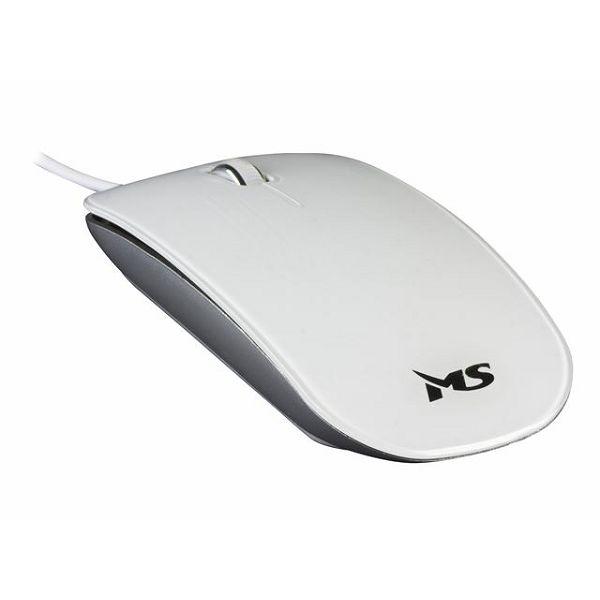 MS GLOSS žičani miš, bijeli  M-007(silver)