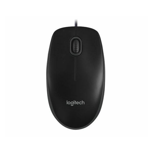 Miš žični Logitech B100 optical USB, crni  910-003357/1439