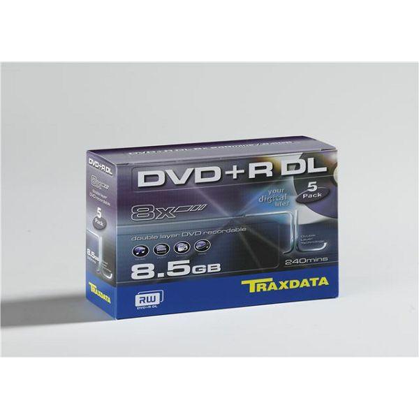 TRAXDATA OPTIČKI MEDIJ DVD+R DUAL LAYER 8X BOX 5  906344ATRA013