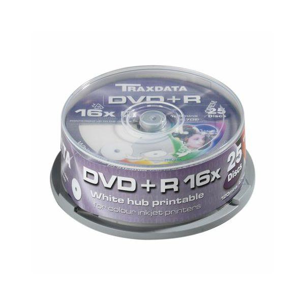 TRAXDATA OPTIČKI MEDIJ DVD+R 16X CAKE25 WHITE FULL PRINTABLE  9067A3ITRA014