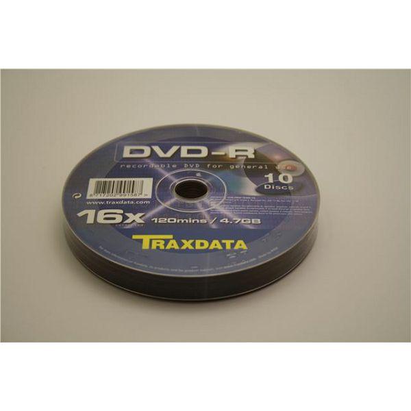 TRAXDATA OPTIČKI MEDIJ DVD-R 16X SPINDLE 10  907O5DRTRA003