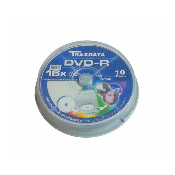 TRAXDATA OPTIČKI MEDIJ DVD-R PRINTABILNI CAKE 10  907CK1IWTRA01