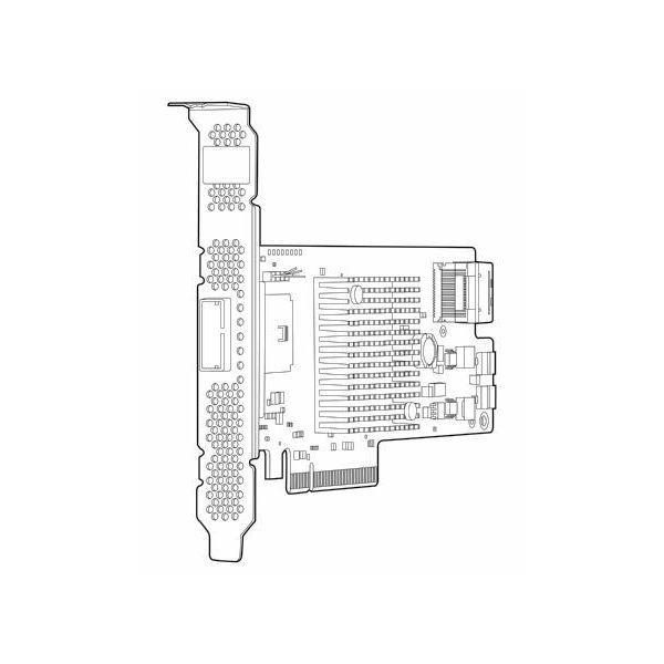 HP CON HBA H222 1x4 ext, 1x4 int  650926-B21