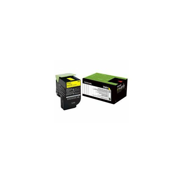 Toner Lexmark CS310 708Y Yellow  70C80Y0